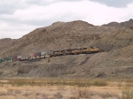 UP 4809 leads a WB doublestack at 2:06pm