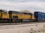 UP 2840 #3 power in WB intermodal at 2:00pm