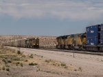UP 3885 intermodal meets UP 4849 autorack at 2:01pm