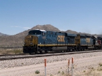 CSX 5437 pulls a WB autorack in the shadow of Mt Cristo Rey at 12:17pm