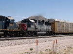 SSW 9652 #3 power in a WB autorack at 12:17pm