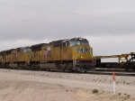 UP 5187 leads an EB intermodal at 11:45pm