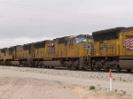 UP 5213 #2 power in an EB intermodal at 11:45am