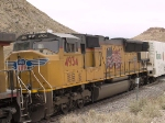 UP 4934 #3 power in EB intermodal at 1:32pm