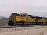 UP 8438 leads a WB intermodal at 1:20pm