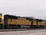 UP 4442 #2 power in WB intermodal at 1:20pm
