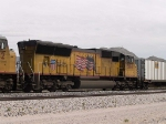 UP 5104 #3 power in WB intermodal at 1:20pm