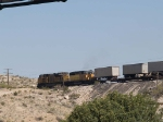 UP 8487 and UP 3351 pull a WB intermodal at 10:19am