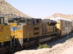 UP 8360 #4 power in an EB intermodal at 10:55am