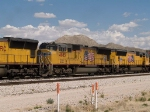 UP 4885 #2 power in a WB intermodal at 2:52pm