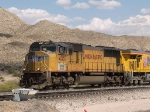 UP 4357 leads a WB intermodal at 3:10pm