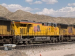 UP 7609 #2 power in a WB intermodal at 3:10pm