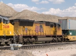 UP 4750 #3 power in a WB intermodal at 3:10pm