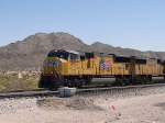UP 4997 leads a WB intermodal at 11:46am