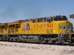 UP 7622 #2 power in an EB intermodal at 1:22pm