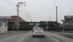 NS 9832 Pushes Grain Cars North
