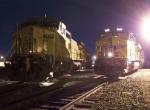Northbound Manifest and Southbound Work Train Locomotives