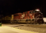 Stopped Northbound Intermodal With the Katy Heritage Locomotive