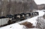 EB coal Train at Cassandra, Pa   Feb 07