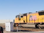 UP 5105 leads a WB stack at 3:57pm