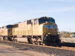 UP 4214 leads EB stack ILBNO at 5:04pm