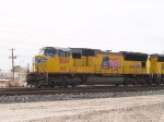 UP 5089 leads a stack EB at 2:35pm