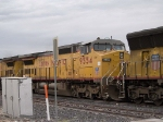 UP 9554 #2 power in EB intermodal at 4:39pm