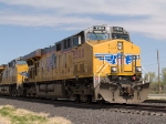 UP 5500 leads an EB autorack/intermodal at 11:19am