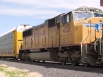 UP 4321 #3 power in EB autorack/intermodal at 11:19am