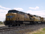 UP 5504 leads a WB intermodal at 11:43am