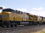 UP 7622 #2 power in WB intermodal at 11:43am