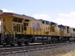 UP 5311 #3 power in WB intermodal at 11:43am