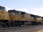 UP 4456 #4 power in WB intermodal at 11:43am