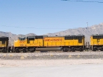 UP 4363 #2 unit in a WB autorack at 11:48am
