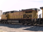 UP 9831 #3 power in WB intermodal at 11:52am