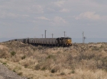 UP 7127 leads a WB grain train at 12:00pm