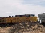 UP 6493 #1 DPU in WB grain train at 12:00pm
