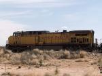 UP 6851 #2 DPU in WB grain train at 12:00pm