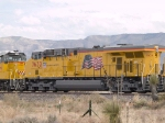 UP 7632 #3 power in WB intermodal at 12:44pm
