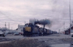 1123-01 Eastbound CNW freight pulled by Alco slug-set