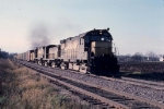 1123-13 Eastbound CNW freight pulled by Alco slug set