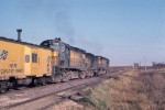 1123-15 Eastbound CNW freight pulled by Alco slug set