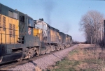 1123-27 Eastbound CNW freight pulled by Alco slug set