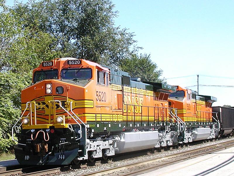 BNSF 5520 CSX B&O line