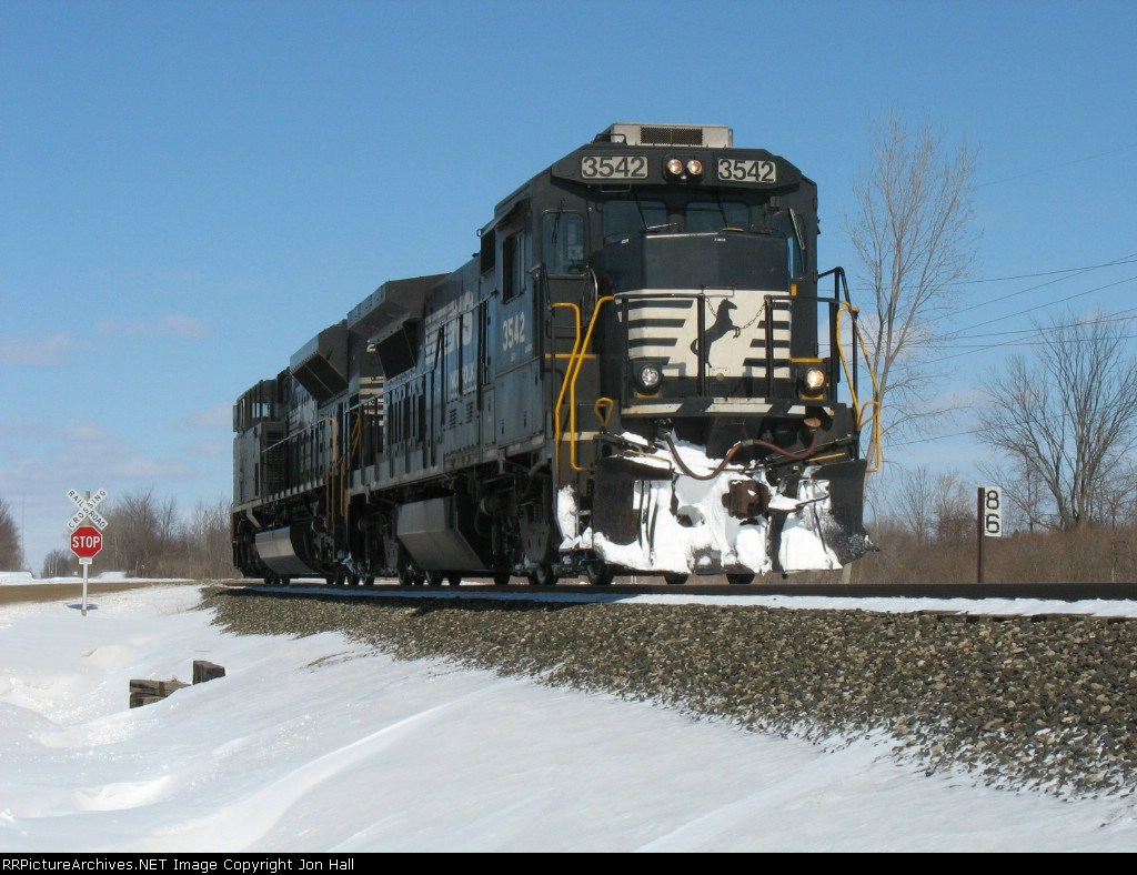 Train 964, light power for Elkhart, continues south