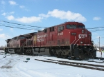 CP 9765 & 9679 cut off their train to make the pickup