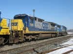 CSX 7602 & 8715 as Q326's through power today