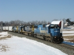 CSX 8715 & 7602 leading Q326 with 2 GP38-2's for Lansing