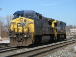 CSX 7891 & 9021 backing into the yard