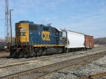 CSX 2509 leading Y106 back into the yard